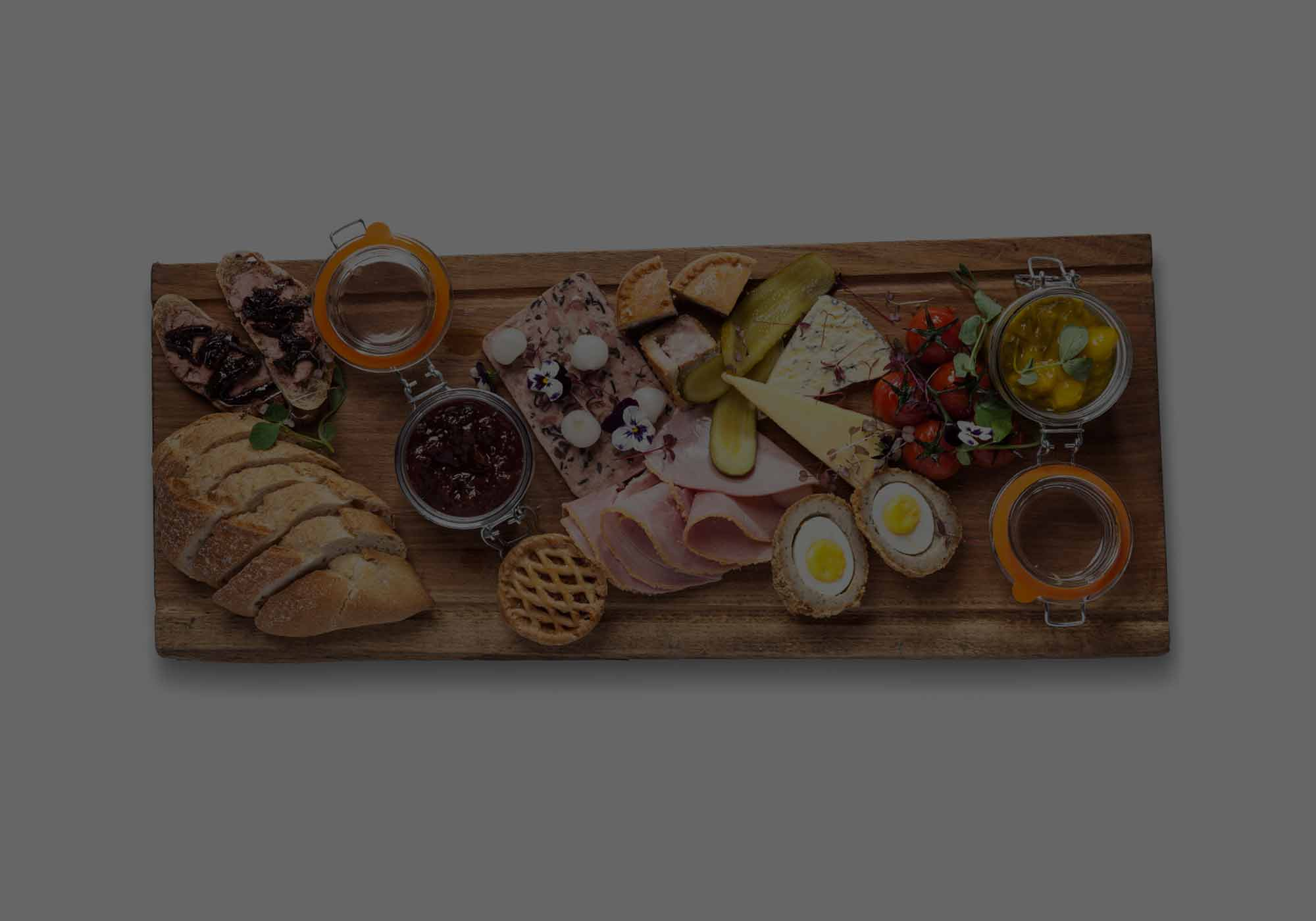 Sample wedding menus the hog and apple food co for Canape ideas for wedding